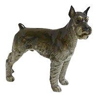 Hutschenreuther Porcelain Schnauzer Dog Figurine