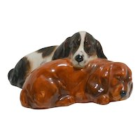 Royal Doulton Sleeping Cocker Spaniel Dogs