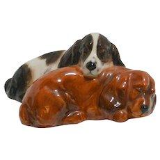 Royal Doulton Sleeping Cocker Spaniel Dogs