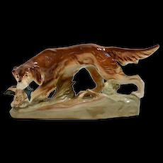 Royal Dux Retriever Sporting Dog Figurine