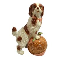 Vintage Cavalier King Charles Spaniel Dog Figurine c. 1960's