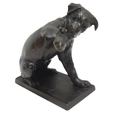 Bronze Dog With a Bee by Eduoard-Marcel Sandoz c.1918