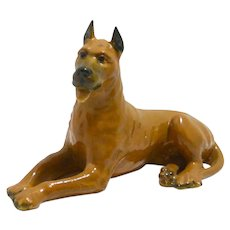 Rare Black Mortens Studio Great Dane Figurine