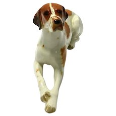 Large Lomonosov Reclining Pointer Dog c. 1936-1992