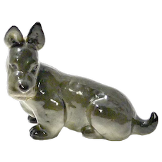 Vintage Russian Lomonosov Scottish Terrier Dog Figurine c. 1970's