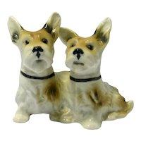 Vintage Porcelain Terrier Dog Pair Germany