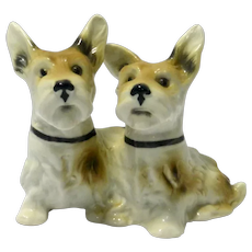 Vintage Porcelain Terrier Dog Pair Germany