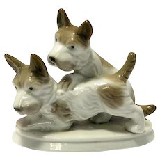 Klaus Muller Porcelain Terrier Dog Pair c.1957