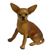 Mortens Studio Chihuahua Figurine, Vintage Chihuahua, Porcelain Dog, Chihuahua Lovers Gift