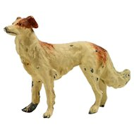 Vintage Cold-Painted Lead Borzoi Russian Wolfhound Dog c. early 1900's