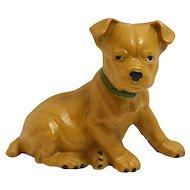 Vintage Cast Iron Boxer Puppy Still Bank