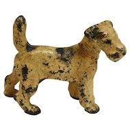 Hubley Fox Terrier Cast Iron Doorstop c.1930's