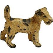 Hubley Fox Terrier Cast Iron Doorstop c.1930's