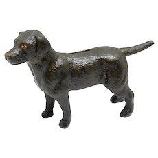 Vintage Cast Iron Labrador Retriever Still Bank