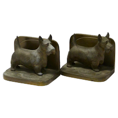 Art Deco Scottish Terrier Bookends Frankart