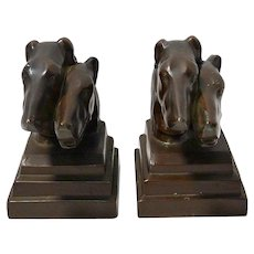 Art Deco Nuart Borzoi Dog Bookends c.1930