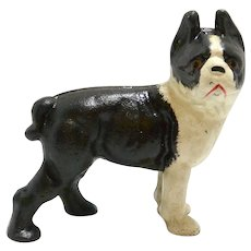Cast Iron Boston Terrier Paperweight/Bookend