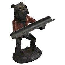 English Bulldog Cast Metal Pen Holder