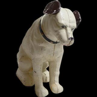 Vintage Original Large RCA Nipper Dog Still Bank