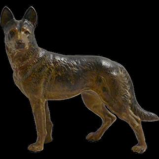 Hubley Cast Iron German Shepherd Dog Doorstop