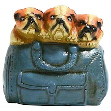 Vintage Cast Iron Bulldog Bank