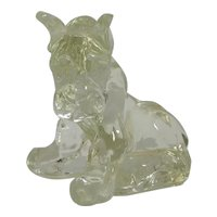 Vintage Glass Sitting Boxer Dog Kenneth R. Haley