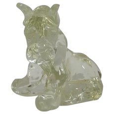 Vintage Glass Sitting Boxer Dog Kenneth R. Haley
