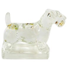 Vintage Heisey Crystal Glass Scottish Terrier Dog c. 1941 - 1946