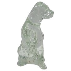 Glass Labrador Retriever Dog Figurine with Paw Up