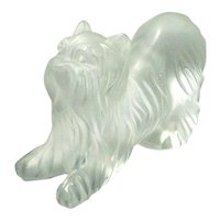 Vintage Lalique Crystal Yorkshire Terrier
