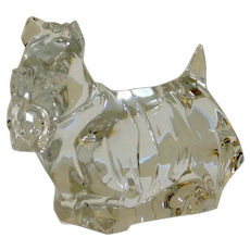 Baccarat Crystal Scottish Terrier Dog