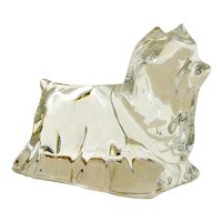Baccarat Crystal Yorkshire Terrier Dog