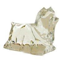 Baccarat Crystal Yorkshire Terrier Dog