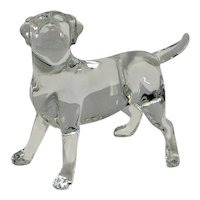 Baccarat Clear Crystal Labrador Retriever Dog
