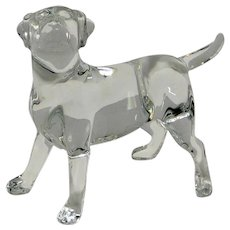 Baccarat Clear Crystal Labrador Retriever Dog