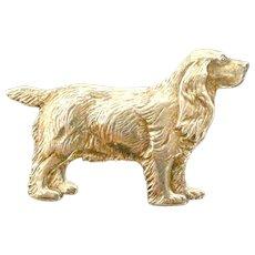 Vintage Sterling Silver Spaniel Dog Pin