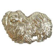 Sterling 925 Silver Pekingese Dog Pin
