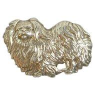 Sterling 925 Silver Pekingese Dog Pin