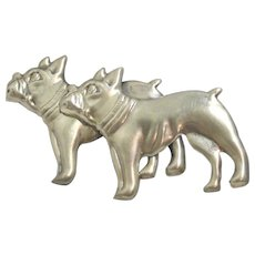Sterling Silver French Bulldog Pin