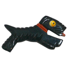 Vintage Bakelite Scottish Terrier Pin