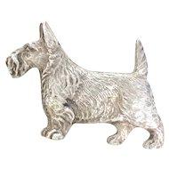 Silver Scottish Terrier Dog Pin