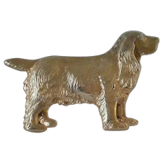 Vintage Sterling Silver Spaniel Dog Pin
