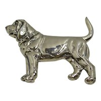 Vintage Sterling Silver Bloodhound Pin