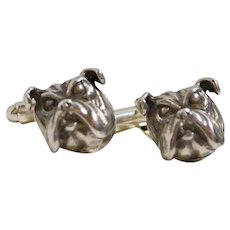Vincent Simone Sterling Bulldog Cufflinks