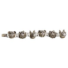 Vincent Simone Sterling Dog Head Bracelet
