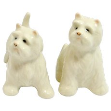 West Highland Terrier dog Salt & Pepper Shakers c.1970's