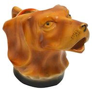 Vintage Sporting Dog Head Creamer Germany c.1920's - 1930's