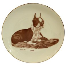 Boston Terrier Laurelwood Collector's Plate 1988