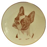 Boston Terrier Laurelwood Collector's Plate 1986