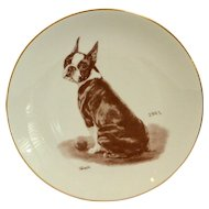 Boston Terrier Laurelwood Collector's Plate 1991